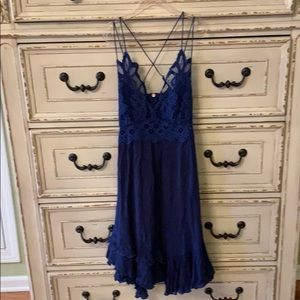 Free people dress size xs blue
